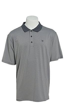 Ariat Men's Micro Stripe TEK Black Heat Series Polo Shirt