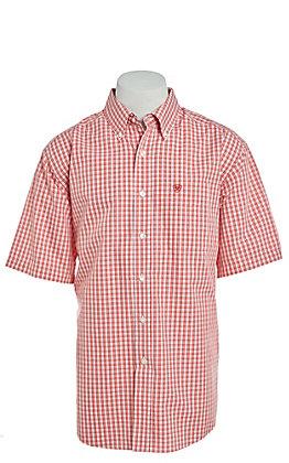 Ariat Paulson Men's Poppy Print Wrinkle Free Short Sleeve Western Shirt