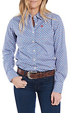 Ariat Women's REAL Kirby Aztec Print Stretch Long Sleeve Western Shirt