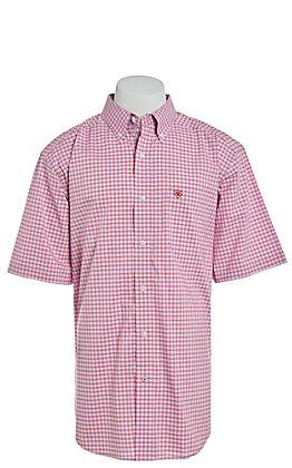 Ariat Men's Hibiscus Plaid Short Sleeve Stretch Western Shirt