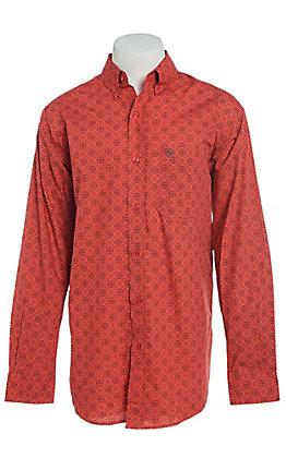 Ariat Men's Munson Hibiscus Circle Print Long Sleeve Western Shirt