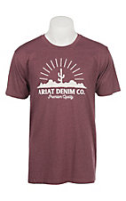 Ariat Men's Heather Burgundy Desert Scape T-Shirt