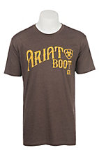 Ariat Men's Heather Brown Boot Co Short Sleeve T-Shirt