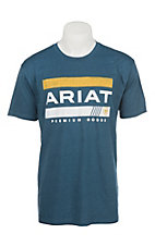 Ariat Men's Creek Heather Bar Stripe Logo T-Shirt