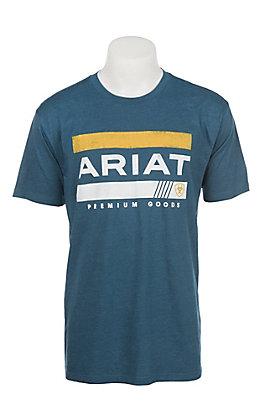 Ariat Men's Creek Heather Bar Stripe Logo T-Shirt