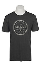 Ariat Men's Heather Charcoal Emblem T-Shirt
