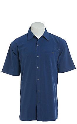Ariat Men's Tek Heat Series Solitude Blue Pine Short Sleeve Shirt