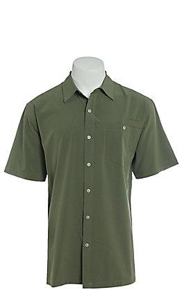 Ariat Tek Heat Series Men's Solid Thyme Short Sleeve Shirt