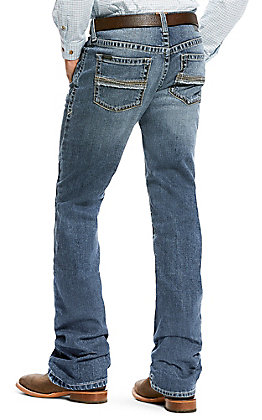 Ariat Men's M2 Grayson Fargo Medium Wash Relaxed Stretch Boot Cut Jeans