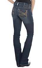 Ariat Women's REAL Vine Celestial Dark Wash Boot Cut Jeans
