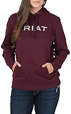 Ariat Women's Malbec with Grey Logo Cavender's Exclusive Hoodie