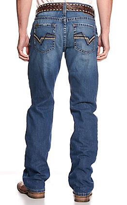 Ariat Men's M4 Duke Midway Medium Wash Low Rise Boot Cut Jeans