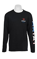 Ariat Men's Black with Americana Logo Long Sleeve T-Shirt