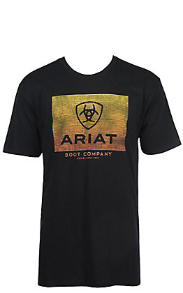 Ariat Men's Black Gradient Logo Short Sleeve T-Shirt