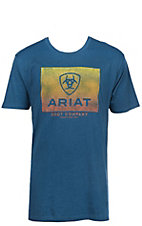 Ariat Men's Teal Gradient Logo Short Sleeve T-Shirt