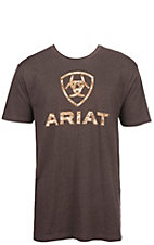 Ariat Men's Brown Digi Camo Shield Logo Short Sleeve Tee