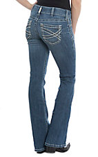 Ariat REAL Denim Women's Cavender's Exclusive Entwined Boot Cut Mid-Rise Riding Jeans