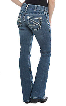 Ariat REAL Cavender's Exclusive Women's Entwined Boot Cut Mid-Rise Riding Jeans