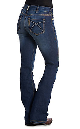 Ariat REAL Women's Rosa Dark Wash Relax Fit Boot Cut Jeans