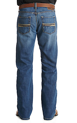 Ariat Men's M5 Tokyo Coyote Stretch Medium Wash Slim Straight Leg Jeans
