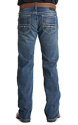Ariat Men's M7 Coltrane Medium Wash Rocker Stretch Stackable Straight Leg Jean