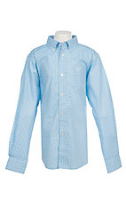 Ariat Boy's Cavender's Exclusive Asa Coast Long Sleeve Stretch Print Western Shirt