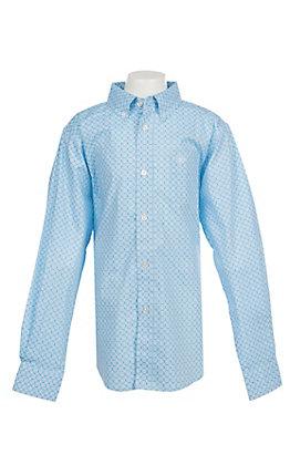 Ariat Boy's Cavender's Exclusive Asa Coast Long Sleeve Stretch Print Western Shirt