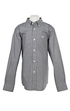 Ariat Boys Cavender's Exclusive Stretch Evander Geo Print L/S Western Shirt
