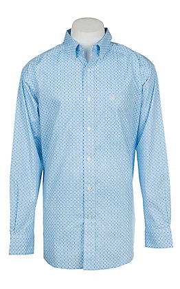 Ariat Men's Cavender's Exclusive Asa Long Sleeve Stretch Print Western Shirt