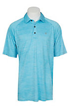 Ariat Men's Cavender's Exclusive Charger Blue Atoll Heat Series Tek Polo Shirt
