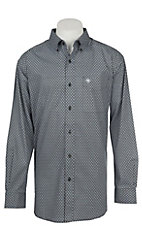 Ariat Men's Cavender's Exclusive Azzie Black Long Sleeve Stretch Print Western Shirt