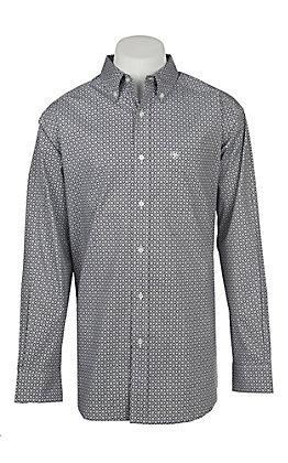 Ariat Men's Stretch Evander Geo Print L/S Western Shirt