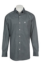 Ariat Men's Cavender's Exclusive Stretch Parton Grey Print L/S Western Shirt