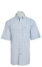 Ariat Pro Series Cavender's Exclusive Men's Jaiden Plaid Short Sleeve Western Shirt