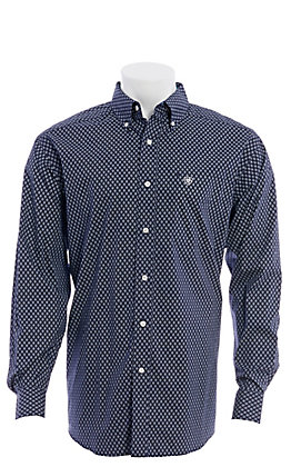 Ariat Men's Walbeck Classic Geo Print Long Sleeve Western Shirt