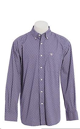 Ariat Men's Purple Medallion Print Long Sleeve Western Shirt