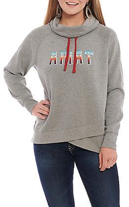 Ariat REAL Women's Grey Serape Logo Pull Over Jacket