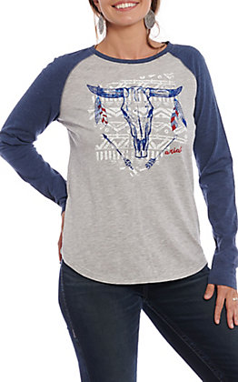 Ariat Women's Born Free Steerhead Graphic Knit Shirt