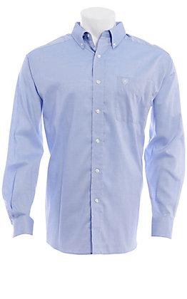 Ariat Men's Wrinkle Free Blue Men's Long Sleeve Shirt