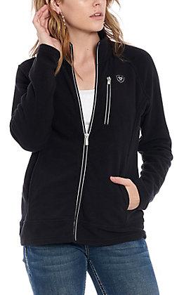 Ariat Women's Basis 2.0 Black Full Zip Fleece Jacket