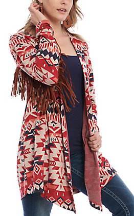Ariat Women's Head Chief Aztec Fringe Cardigan