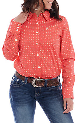Ariat Women's Coral Thunderbird Print Long Sleeve Western Shirt