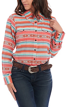 Ariat REAL Women's Turquoise Serape Long Sleeve Western Shirt