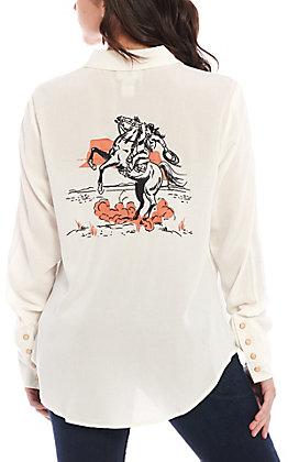 Ariat Women's Ivory Long Sleeve Retro Western Shirt
