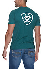 Ariat Men's Cavender's Exclusive Dark Teal Logo T-Shirt