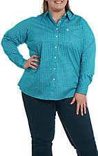 Ariat Women's REAL Cavender's Exclusive Virgil Print Long Sleeve Western Shirt - Plus Size