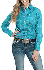 Ariat Women's REAL Cavender's Exclusive Virgil Print Long Sleeve Western Shirt