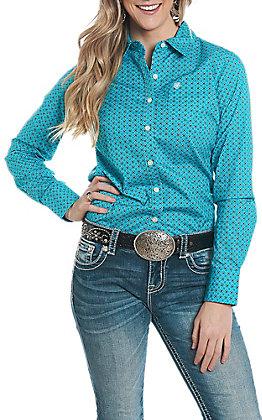 Ariat Women's REAL Cavender's Exclusive Virgil Print Long Sleeve Western Shirt