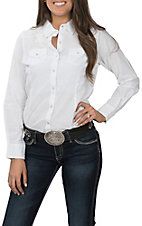 Ariat REAL Women's White with Lace Cavender's Exclusive Long Sleeve Western Shirt