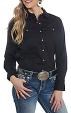 Ariat Women's REAL Cavender's Exclusive Black Long Sleeve Western Shirt